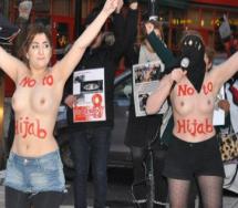 اعتراض برهنه زنان ایرانی به حجاب اجباری !