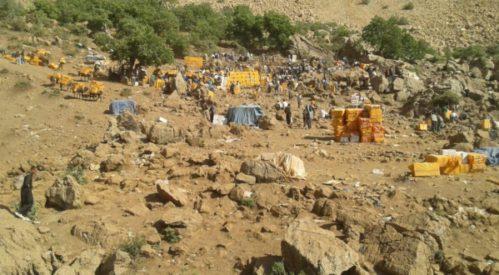 درگیری شدید نیروهای مسلح جمهوری اسلامی و کولبران در مرز هورامان