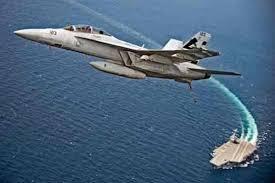 نزدیک شدن پهباد ایرانی به یک جنگنده امریکایی