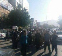 تجمع اعتراضی دانشجویان و کارگران شرکت واحد در حمایت از آزادی رضا شهابی