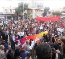 تجمع اعتراضی جمعی ازمردم کرمانشاه در حمایت از کولبران