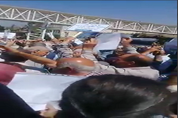 تجمع بازنشستگان در مقابل مجلس شورای اسلامی