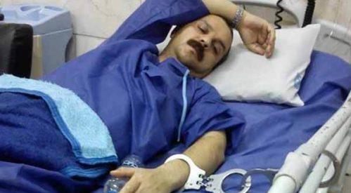 اعزام رضا شهابی به بیمارستان با دستنبد