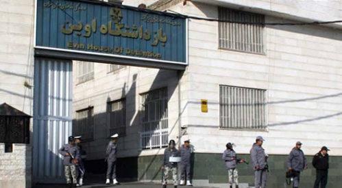 تحصن زندانیان سیاسی بند ۸ زندان اوین درساعت هواخوری