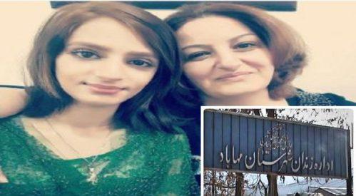 انتقال دو فعال زنان جهت اجرای حکم به زندان مهاباد
