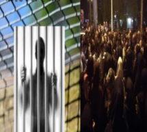 تجمع اعتراضی خانواده های زندانیان سیاسی تبعیدی در زندان اردبیل