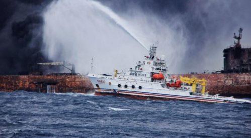 تیم امداد چینی جعبه سیاه و اجساد دو خدمه نفتکش سانحه دیده ایرانی را پیداکردند
