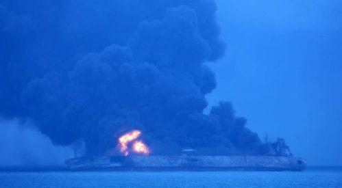 ناپدید شدن ۳۰ ایرانی در اثر تصادف و آتش سوزی یک نفتکش ایرانی