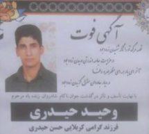 انکار جمهوری اسلامی از کشته شدن وحید حیدری دربازداشتگاه