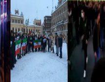 تظاهرات ایرانیان ساکن سوندسوال کشورسوئد درحمایت از مردم معترض ایران