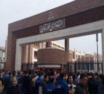 تجمع کارگران فولاد خوزستان به حمایت از کارگران زندانی