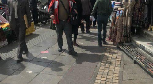 حمله وحشیانه ماموران انتظامی به دستفروشان در میدان ولی عصر تهران