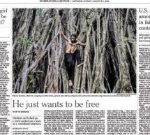 عکس «بهروز بوچانی» روی جلد روزنامه نیویورک تایمز
